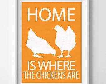 "8x10"" Chicken Wall Art Print, Chicken Art Print, Chicken Art Decor, Farm Animal Wall Art, Gift for Chicken Lover, Chicken Pet, Farmhouse Art"