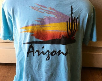 Vintage 1980s Arizona souvenir t shirt screen stars tag womens size large boxy and soft