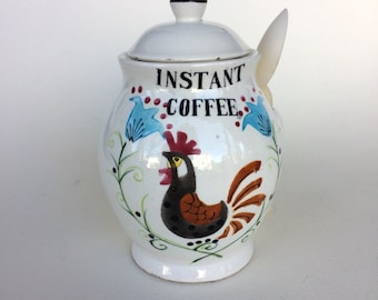 Vintage Quality Product Instant Coffee Canister Made in Japan