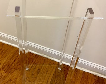 Clear Lucite Table
