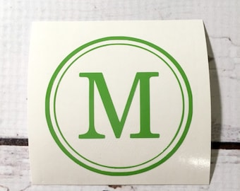 Vinyl Monogram One Initial Decal Single Letter Vinyl Decal
