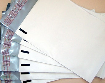 50 (6 x 9 ) White Poly Mailers - Self Sealing