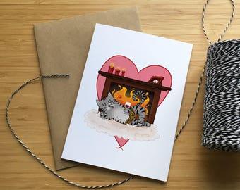 Valentine's Day Greeting Card - Choose your couple/Carte de St-Valentin - Choisis ton couple