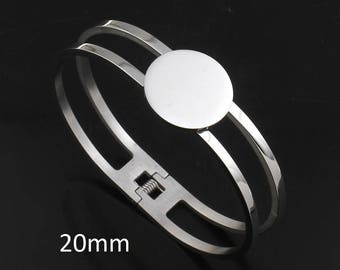 1 Piece Stainless Steel Bracelet 20mm Blank Setting
