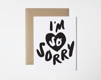 Sympathy Card- I'm So Sorry