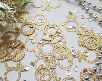 Gold Ring Glitter Confetti, Wedding Confetti,  Gold Confetti, Party Decorations, Party Decor, Wedding Decor, Bachelorette Party Confetti