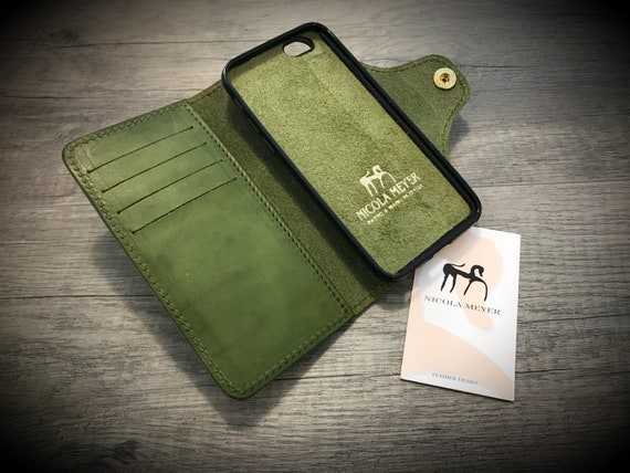Smooth Leather iPhone Galaxy Pixel Huawei Case Flip Wallet Bifold Style CHOOSE Device and Color