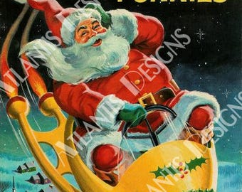 Santa Claus Funnies 1959 Holiday Fridge Magnet 2 x 3