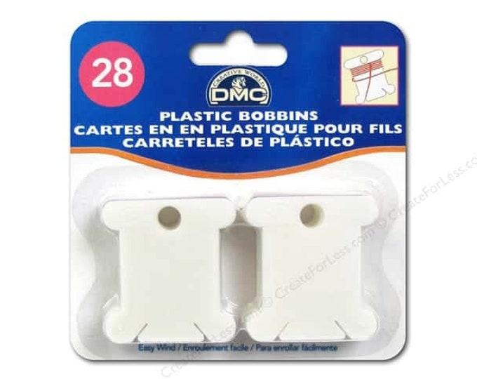 DMC Plastic Bobbins - 28 per Pack