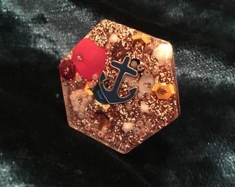 Nautical statement ring