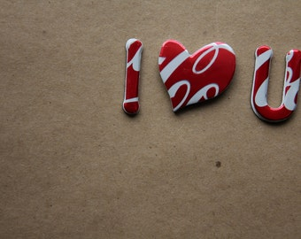 Coke Can Magnetic Letters