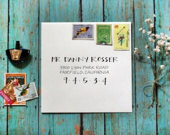 Custom Calligraphy Modern Wedding Envelopes Party Envelopes - Classy Strokes