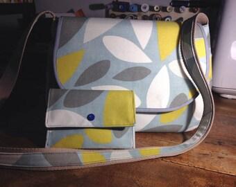 Hobo shoulder bag & matching prestigious cotton pouch