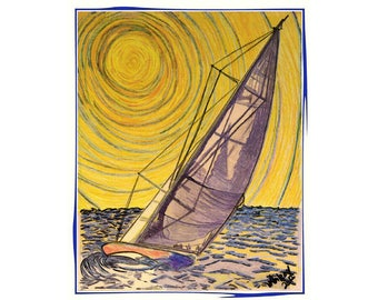 Solar Sail...Sailing Art...wgilroy...sailboats...Sunshine...Wind...Warmth...Sailing...