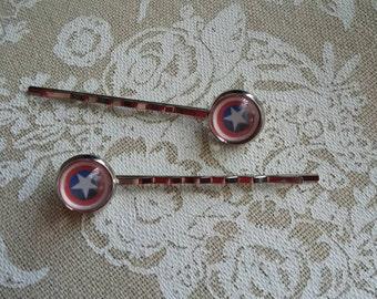 Captain America/Winter Soldier hair pins