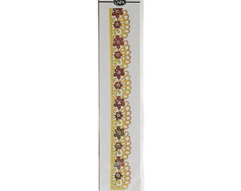 Sizzix Sizzlits Decorative Strip Die By BasicGrey-Flower Garden 12.625'X2.375'