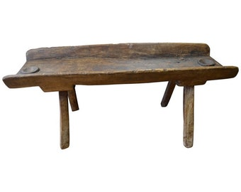 Coffee Table/Side Table from Trough Used as Salt Lick for Deer and Cows
