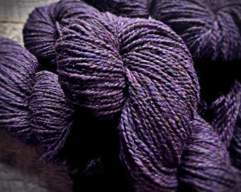 Wool yarn shop, Deep purple yarn, Peace Fleece, worsted weight yarn for knitting, wool for knitting yarn, Porterfield Plum