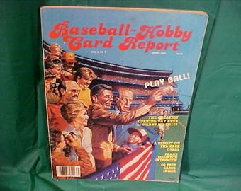 Spring 1984  Baseball Hobby Card Report Vol. 2 # 1 w/ 40n Reprint Sweet Caporal and Piedmont Cards