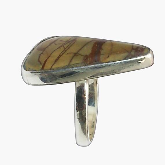 Cherry Creek Jasper Ring Set in Sterling Silver, Size 8-3/4  r875ccke2707