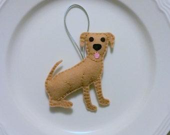 Mixed Breed Personalized Felt Christmas Handmade Ornament