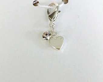 Heart Bling Progress Keeper, Knitting Marker, Crochet Stitch Marker, Removable Stitch marker, Zipper Pull for your Project Bag
