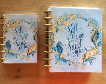Happy planner cover / Seahorse front and back cover / dashboard / mini happy planner  /planner supplies / planner accessories / inserts
