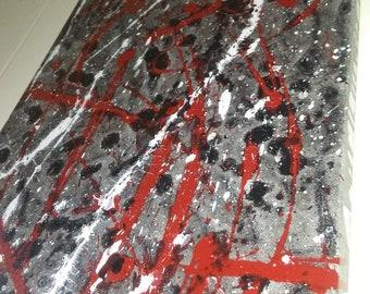 "12""×36"" Abstract splatter canvas"