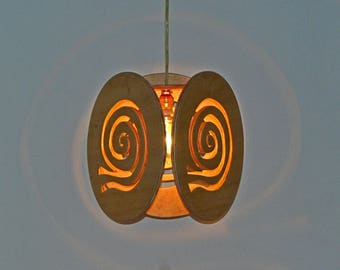"Wooden Roof Luminaire ""snails"""