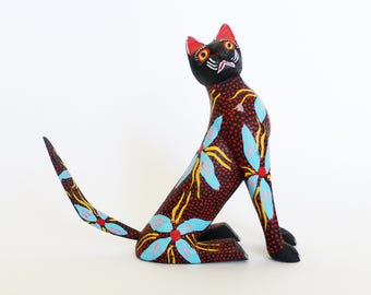 Oaxacan Woodcarving • Cat • Fuentes