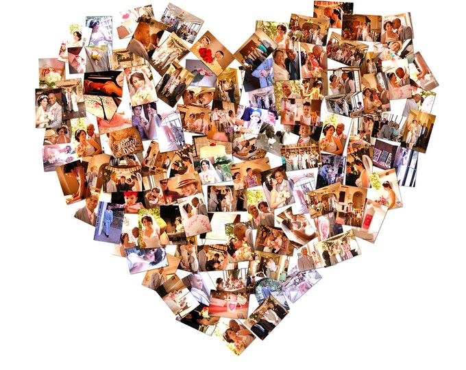 Heart Collage Gift Custom Canvas Mosaic Gift Heart Shape Gift Photo Gift Gift For Girlfriend Gift For Boyfriend Parents Anniversary 20x24