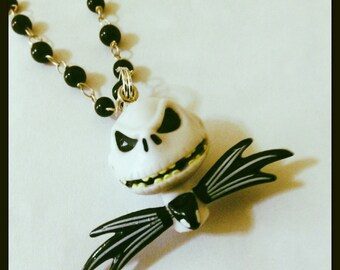 Jack Skellington Rosary Necklace, Tim Burton, Nightmare Before Christmas