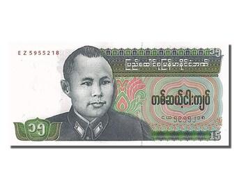 Birmanie 15 kyats 1986 km #62 unc(65-70) ez 5955218