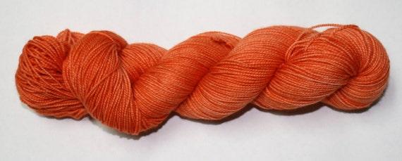 Pumpkin Hand Dyed Sock Yarn