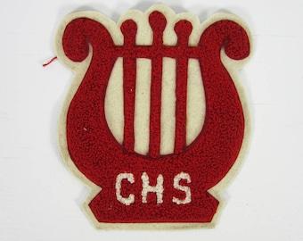 Vintage 1950s CHS Letterman Patch Varsity High School Football Monogram