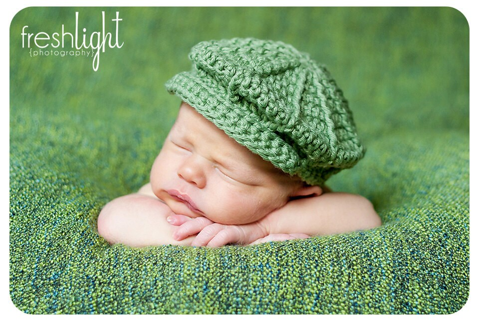 Unique Crochet Baby Newsboy Hat Pattern Free Gift - Decke Stricken ...