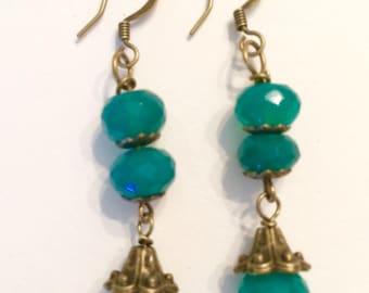 Downton Abbey Inspired Emerald Earrings