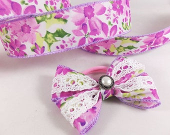 1 1/2 Inch Summery Lavender Wire Edge Ribbon