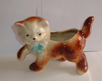Cat Planter-Mid Century 1950S Cat Planter-Shawnee Pottery  Kitten Planter-Cat Collector Decor