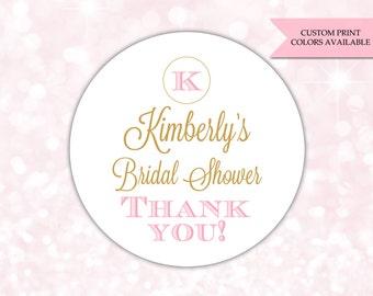 Bridal shower stickers - Bridal shower labels - Bridal shower favor sticker (RW042)
