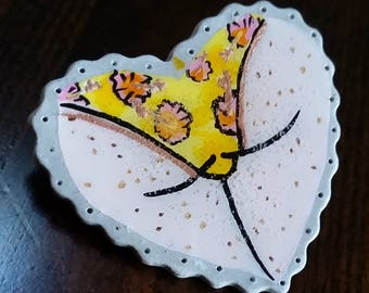 Summer Booty - Handmade Ceramic Pin