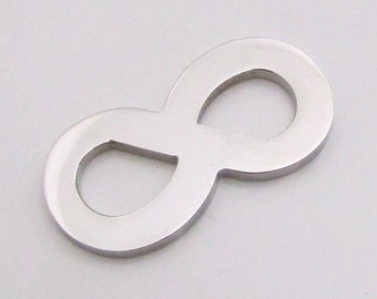 Infinity Charm, Stainless Steel Infinity Pendant, Stainless Steel Jewelry Pendant, SST Findings 30x15x2mm Stamping Blank Stampable (134)