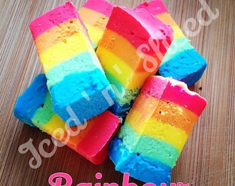 Rainbow fudge - homemade sweet colourful chocolate gift