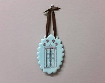 Snowflake Tardis Ornament