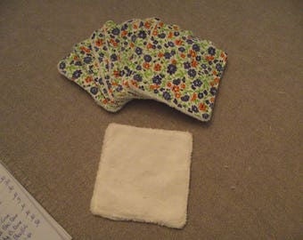 "Machine washable and reusable wipes for baby ""flowers"" or mamnan"