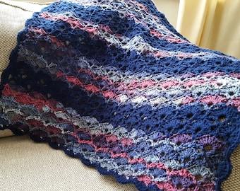 Crochet Blanket, Luxury Crochet Throw, Lap Throw, Lap Blanket