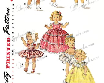 8 inch doll Sewing Pattern, alexander-kins,ginny & muffie PDF doll clothes pattern Simplicity 1372