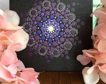 Purple mandala canvas