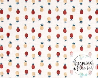 Dear Stella Pineapple Fabric // Quilting Cotton // Cotton Woven // 100% cotton // Pineapple Fabric