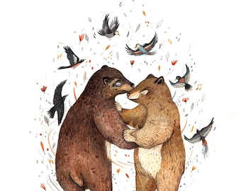 BEAR DANCE  // Signed A4 Print